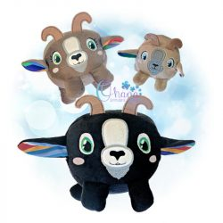 Ball Goat Stuffie Embroidery