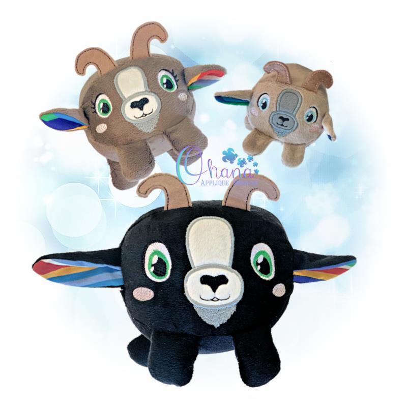 OAD Ball Goat Stuffie Multi JH 80072