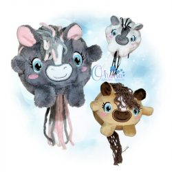 Ball Horse Stuffie Embroidery