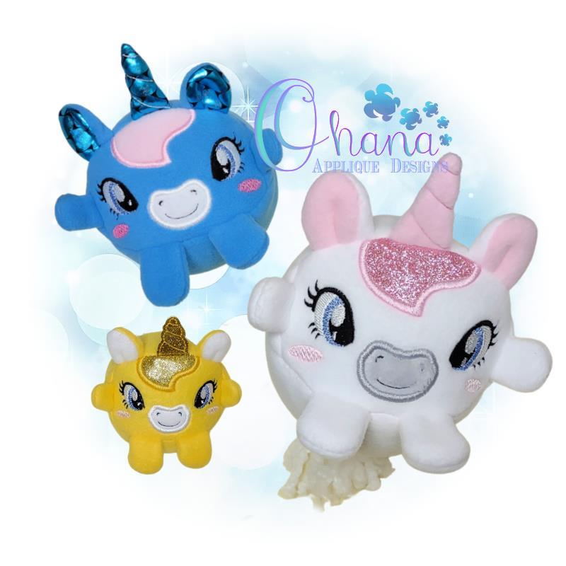 OAD Ball Unicorn Stuffie EC 80072