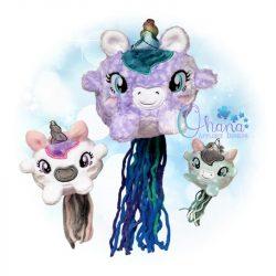 Ball Unicorn Stuffie Embroidery