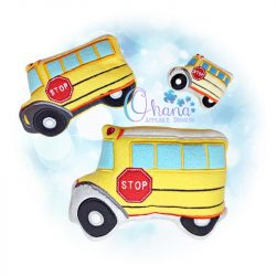 Bus Stuffie Embroidery Design