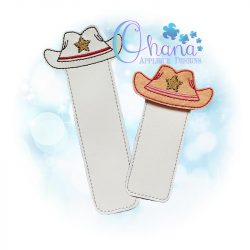 Cowboy Hat Bookmark Embroidery