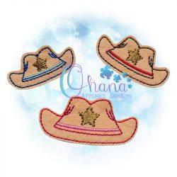 Cowboy Hat Feltie Embroidery