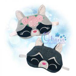 Raccoon Sleep Mask Embroidery
