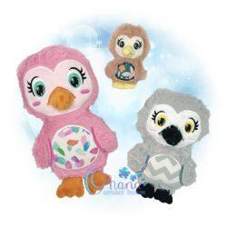 Ozzie Owl Stuffie Embroidery
