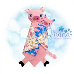 Pig Lovey Embroidery Design