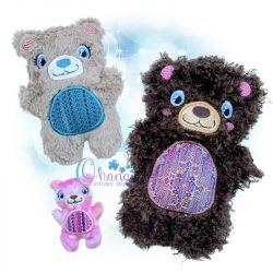 Barry Bear Stuffie Embroidery