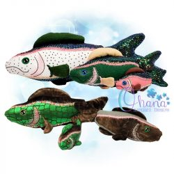 Rainbow Trout Stuffie Embroidery