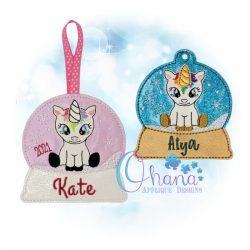 Unicorn Ornament Embroidery Design