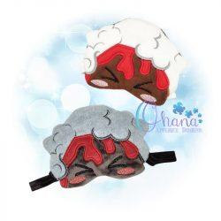 Volcano Sleep Mask Embroidery