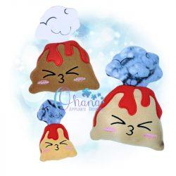 Volcano Stuffie Embroidery Design