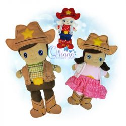 Western Doll Stuffie Embroidery
