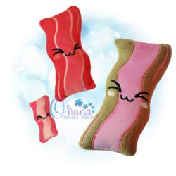 Bacon Stuffie Embroidery Design