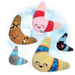 Boomerang Stuffie Embroidery Design