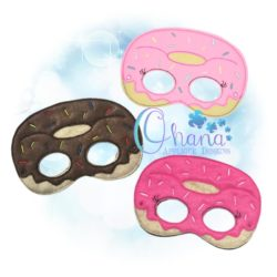 Donut Pretend Mask Embroidery