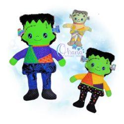 Frankenstein Stuffie Embroidery Design