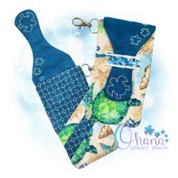 Honu Glasses Case Embroidery