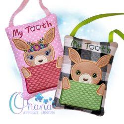Kangaroo Tooth Pillow Embroidery