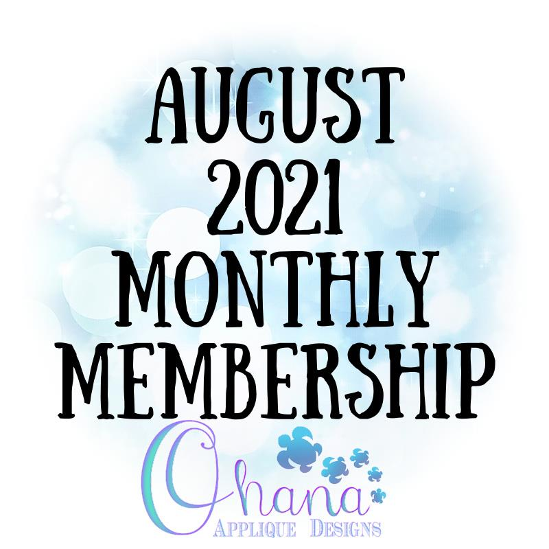 OAD August 2021 Monthly Membership