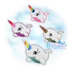 Narwhal Feltie Embroidery Design