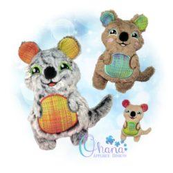 Quokka Stuffie Embroidery Design