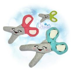 Kawaii Scissors Stuffie Embroidery