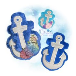 Anchor Stuffie Embroidery Design