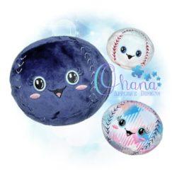 Ball Baseball Stuffie Embroidery