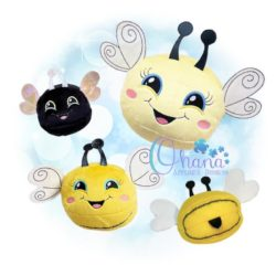 Ball Bee Stuffie Embroidery