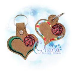 Basketball Love Key Chain
