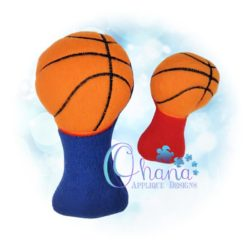Basketball Rattle Embroidery Design