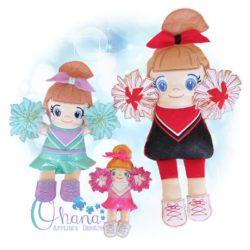 Cheerleader Stuffie Embroidery Design