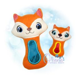 Fox Rattle Embroidery Design