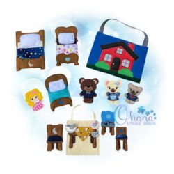 Goldilocks Finger Puppets Embroidery