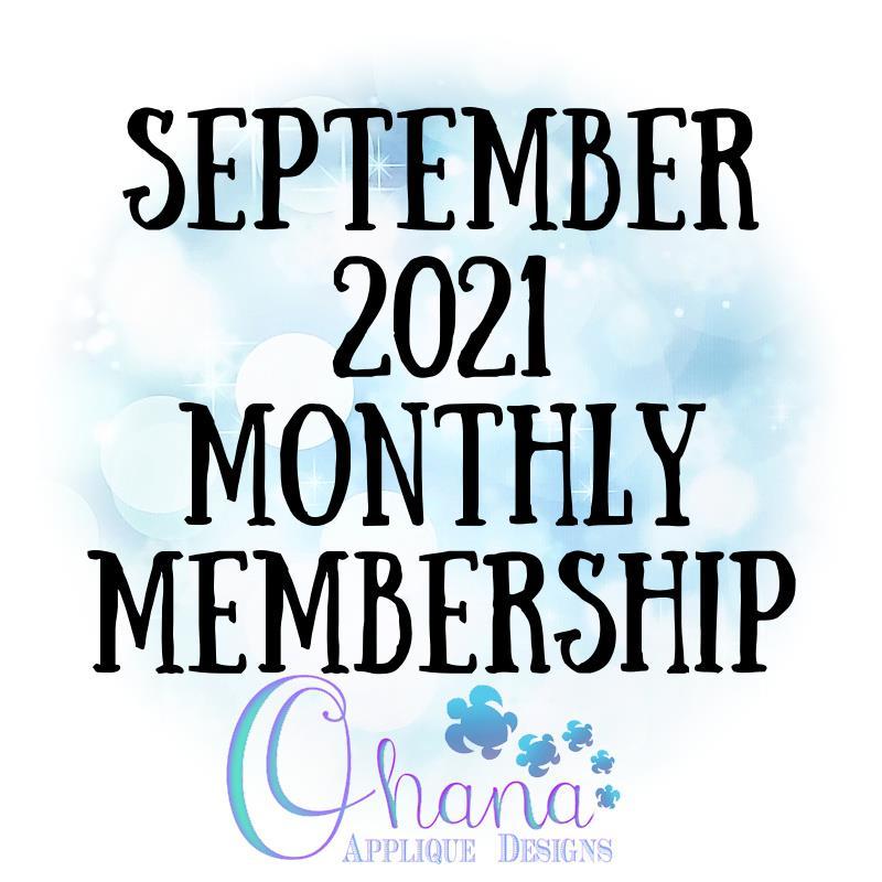 OAD September 2021 Monthly Membership