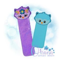 Floral Owl Bookmark Embroidery