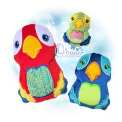 Jolly Parrot Stuffie Embroidery