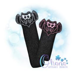 Skelly Bat Bookmark Embroidery
