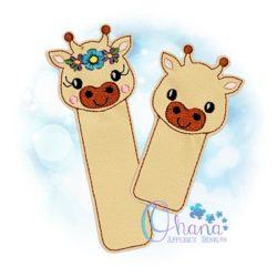 Giraffe Bookmark Embroidery Design
