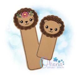 Lion Bookmark Embroidery Design