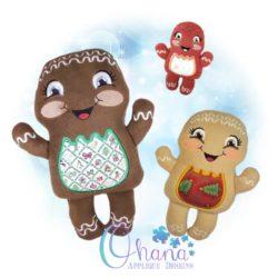 Noel Gingerbread Stuffie Embroidery