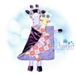 Giraffe Lovey Embroidery Design