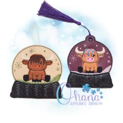 Highland Cow Ornament Embroidery