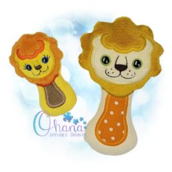 Lion Rattle Embroidery Design