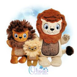 Liam Lion Stuffie Embroidery