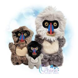 Buster Baboon Stuffie Embroidery