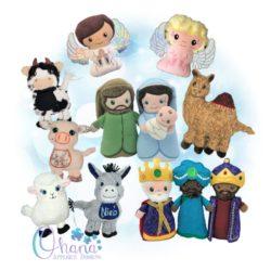 Nativity Stuffie Bundle Embroidery
